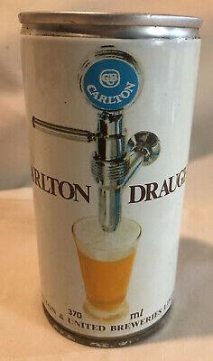 Vintage Carlton Draught Brewed in 12.5oz 370ml Wide Seam Australia! WOW!!
