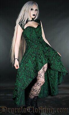 Dracula Clothing Emerald Steel Choker Dress L/XL Corset Goth Brocade Steampunk