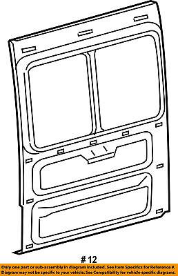 Dodge CHRYSLER OEM 03-06 Sprinter 2500-Side Panel 5104197AA