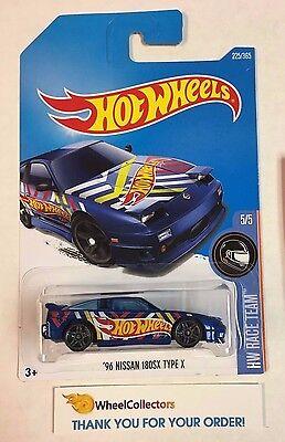 '96 Nissan 180SX Type X #225 * BLUE * 2017 Hot Wheels K Case * A15