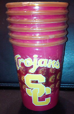 USC TROJANS SOUTHERN CALIFORNIA 16 OZ REUSABLE CUPS ~ TOP SHELF DISHWASHER SAFE](Usc Party Supplies)