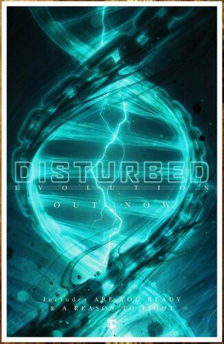 DISTURBED Evolution 2018 Ltd Ed RARE Poster +FREE Rock Metal Alternative Poster!