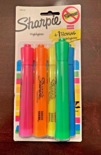 Sharpie Highlighters,  Assorted Color, Pack of 5