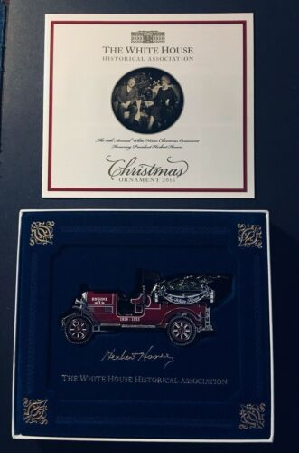 2016 White House Official Christmas Ornament Fire Truck Free shipping within US