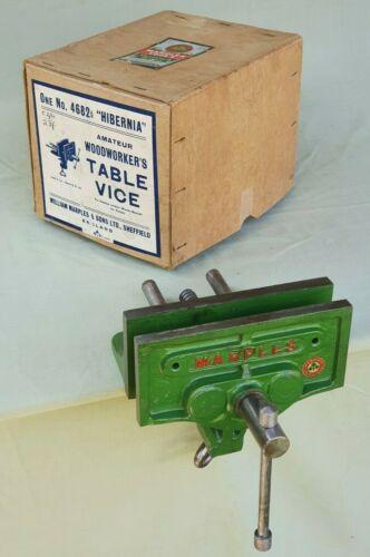 "NOS Vintage W Marples Hibernia No 4682½ Woodworkers 6"" Table Vice Original Box"