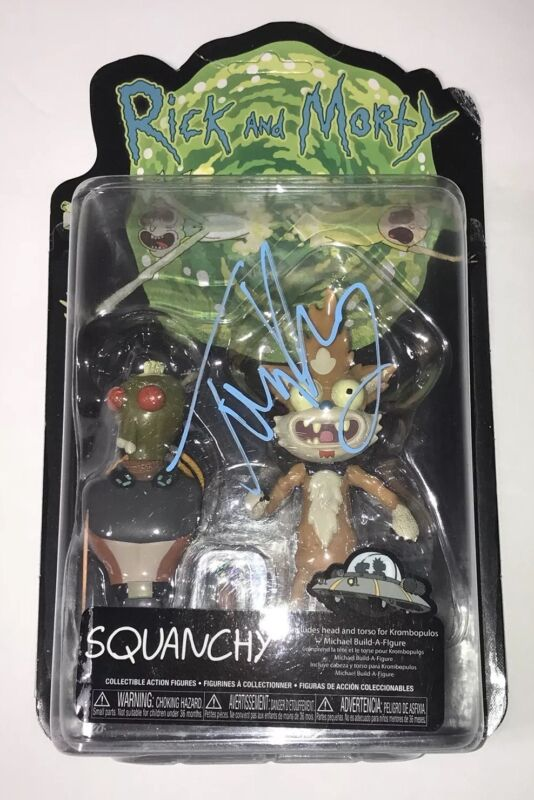 TOM KENNY Rick And Morty SQUANCHY Signed Action Figure Autograph
