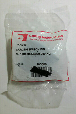 Carling Technologies 10c586 Lighted Rocker Switch Dpdt 7 Connections - Blue
