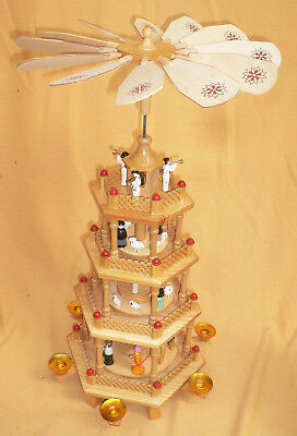 Erzgebirge Weihnachtspyramide 61cm Pyramide Weihnachten Kerzen Advent Pyramidden