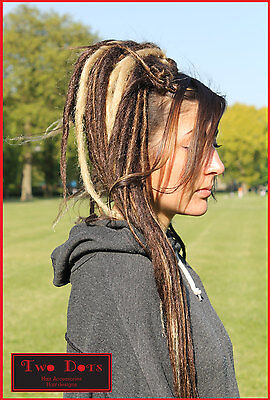 Brown & Blonde Mix Synthetic Dread Falls, Hair Pieces, 20 Inches, Unisex.