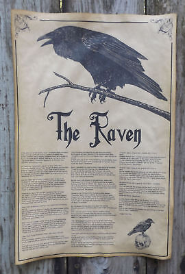 The Raven by Edgar Allan Poe Poster, Halloween Decor, 11 x 17, party, poem - Halloween Decor