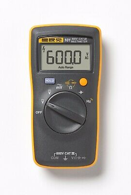 Fluke 101 F101 Digital Basic Pocket Digital Multimeter Meter Ac Dc Volt Tester