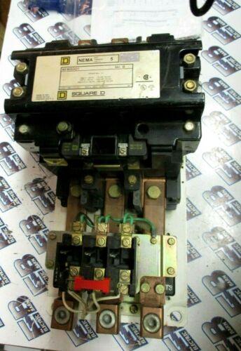 Square D 8536SGO1, SIZE 5, 600V, 3P, FVNR Starter- RECONDITIONED +WARRANTY -S262