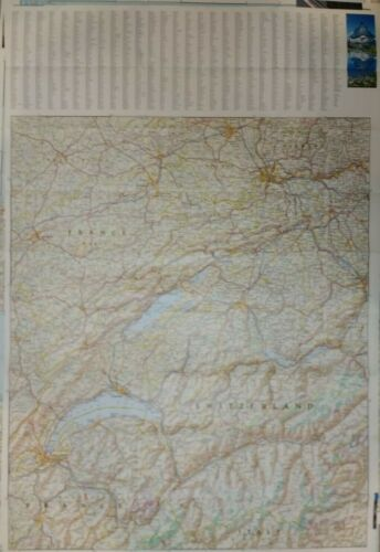 Switzerland Laminated Wall Map (K)