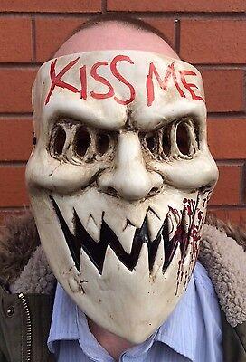 The Purge 3 Mask Kiss Me Halloween Fancy Dress Horror Costume Election Year - The Purge Dress