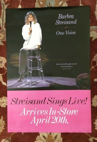 BARBRA STREISAND  One Voice  rare original ADVANCE promotional poster