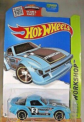 2015 Hot Wheels Kmart Exclusive #193 HW Workshop-Speed Team MAZDA RX-7 Blue wMC5