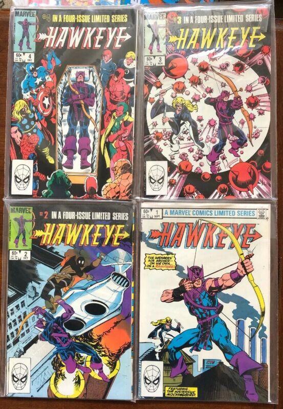 Hawkeye # 1-4 Marvel Comics Complete mini-series Mockingbird Tigra