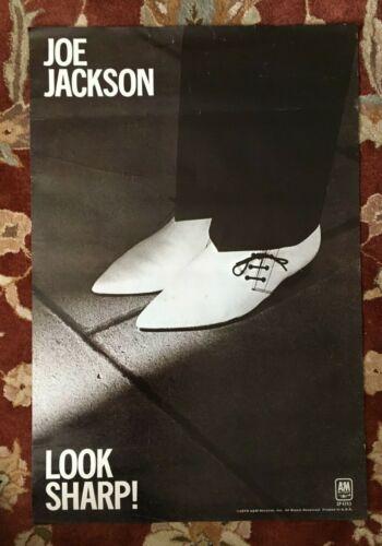JOE JACKSON  Look Sharp  rare original promotional poster