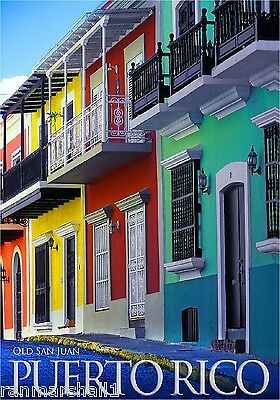 United States Old San Juan Puerto Rico America Travel Advertisement Art Poster