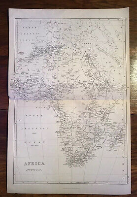 1880's Antique map - Africa- Authentic And Original.