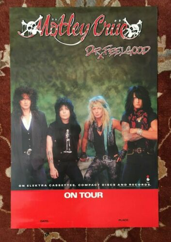 MOTLEY CRUE  Dr Feelgood Tour  rare original promotional poster from 1989