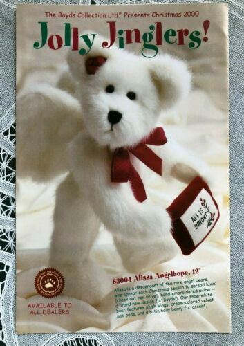 2000 CHRISTMAS BOYDS JOLLY JINGLERS COLLECTION BROCHURE/BOOKLET