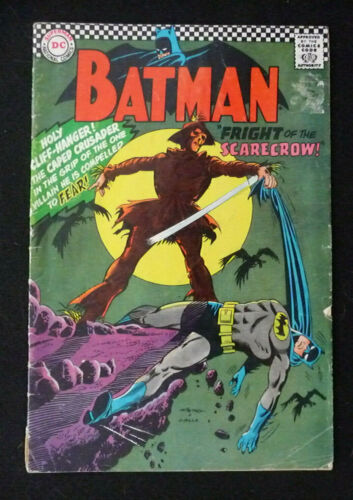 BATMAN 1ST SILVER AGE APPEARANCE FRIGHT OF THE SCARECROW #189 FEB 1967 DC