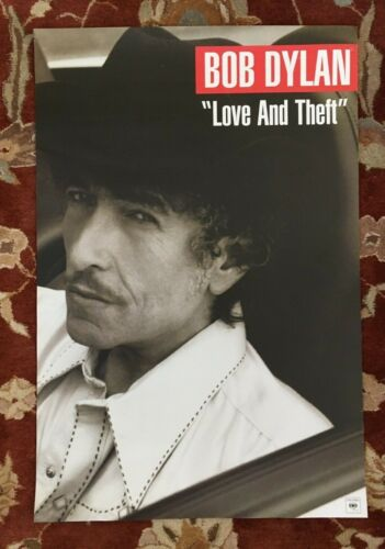 BOB DYLAN  Love And Theft  rare original 2-sided promotional poster