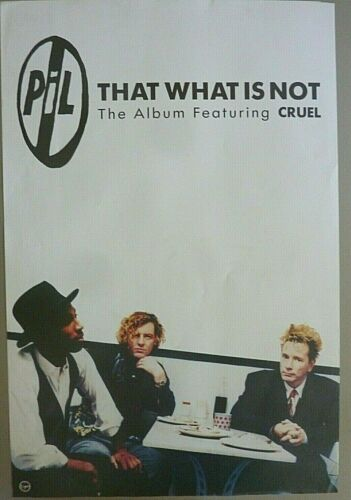 RARE PIL ROTTEN THAT WHAT IS NOT 1992 VINTAGE ORIG MUSIC STORE PROMO POSTER