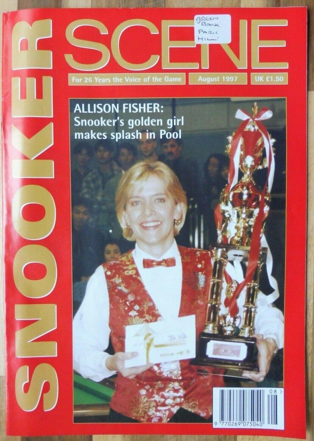 Snooker Scene Magazine, August 1997, Good Condition.