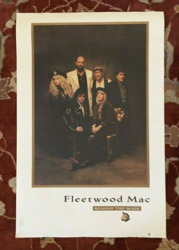 FLEETWOOD MAC  Behind The Mask  rare original promotional poster from 1990