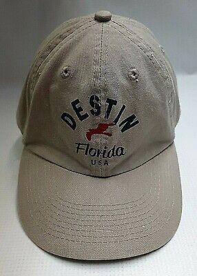 Souvenir Destin Florida Retro Ball Cap Embroidered Adjustable Youth Tourist Hat