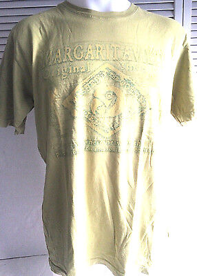 Margaritaville T-Shirt Green and Yellow Subtle Design Washed in Ocean Dried ...