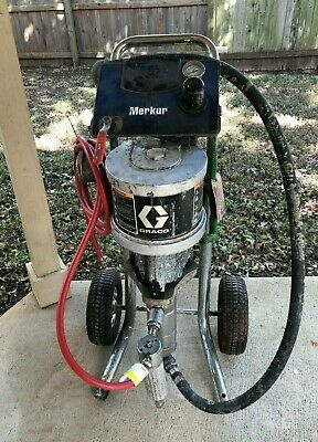 Used Graco G15c77 151 Merkur Pump Paint Sprayer 2.4 Gpm Cart Mount