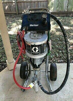 Used Graco G15c77 151 Merkur Pump Paint Sprayer 2.4 Gpm Cart Mount