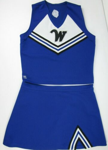 """Adult XXL Cheerleader Uniform Outfit Costume Sexy 44"""" Chest 40"""" Skirt Cosplay"""