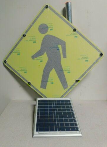 TAPCO 2180-00214 Pedestrian Crossing Pictogram LED Traffic Sign, Amber LED Color