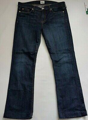 Hudson Jeans Elle Midrise Baby Boot WM104DIF Indigo Dark Wash Thin Denim 34
