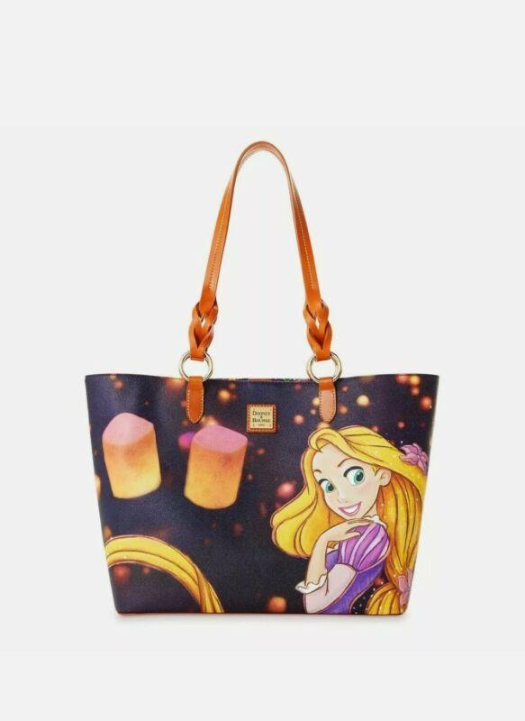 2020 Disney Parks Dooney & Bourke Tangled Rapunzel Tote Bag 10th Anniversary