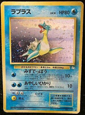 Lapras Pokemon Card Base Set 131 Holo Rare F/S Nintendo Japan Fossil Japan