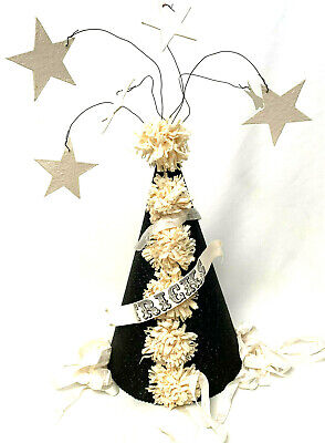 Vintage Bethany Lowe Paper Witches Hat Banner Treats Ribbons