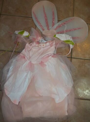 Pottery Barn Kids Paper Flower Fairy Pink Halloween Costume 7-8 Years #1820