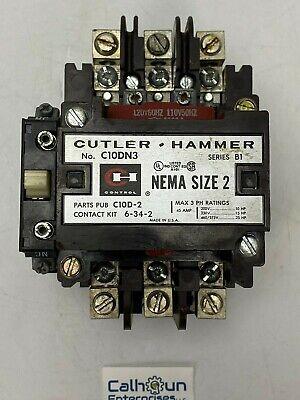 Cutler Hammer C10dn3 Contactor 45 Amp 575v 3 Phase 120v-110v Coil B1 Warranty