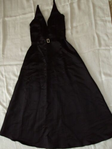 BEAUTIFUL VINTAGE JESSICA MCCLINTOCK SIZE 10P BLACK HALTER EVENING GOWN