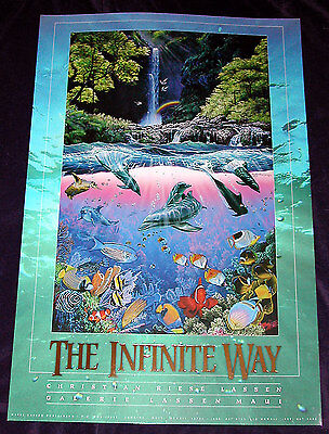 SET OF 4 - LARGE  - CHRISTIAN LASSEN POSTERS - NEW!!  NEVER HUNG  !!