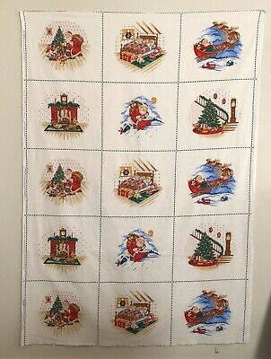 Cranston Twas The Night Before Christmas Visit From St. Nicholas Fabric Squares