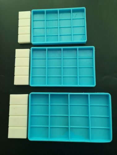 Snap-Bar Silicone Mould Wax Melts Candles Soaps Resin Tarts Silicone Mold 4 bars