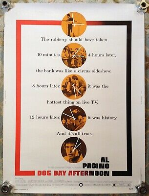 1975 'Dog Day Afternoon' Al Pacino Movie Poster * Original and Large Format