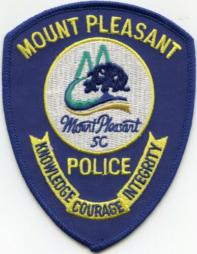 new style MOUNT PLEASANT SOUTH CAROLINA SC POLICE PATCH