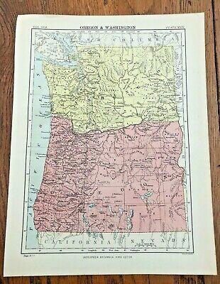 circa 1880s map of oregon & washington !  ( adam & charles black )